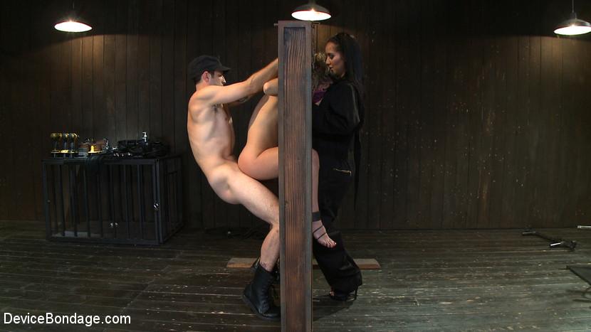 Kristina Rose extreme bondage : Wood Bondage